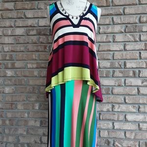 Maeve by Anthropologie multicolored striped dress